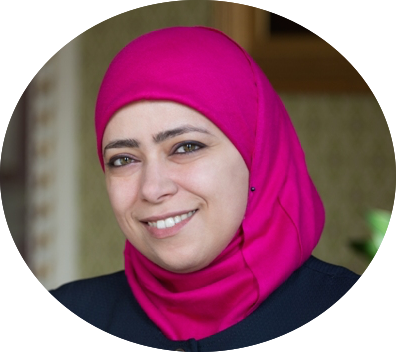 رائدة الأعمال الفلسطينية نسرين مصلح المدير العام والمالكة لشركة رتاج للحلول الإدارية