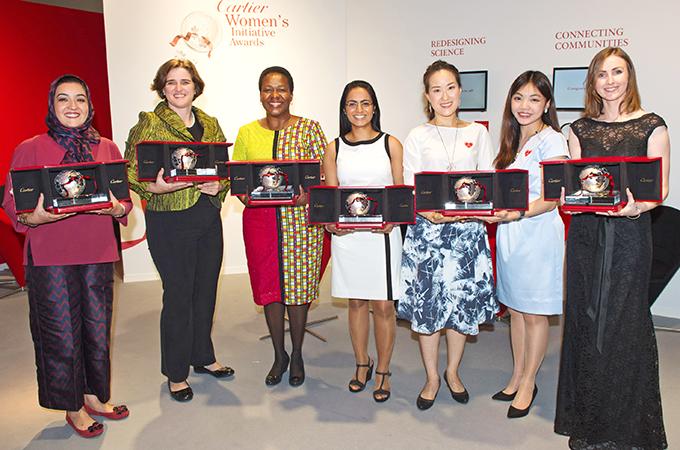 الفائزات بجائزة كارتييه عام ٢٠١٥. الصورة من موقع كارتييه