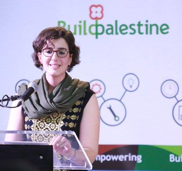 بيسان ابو جودة مديرة منصة لنبني فلسطين