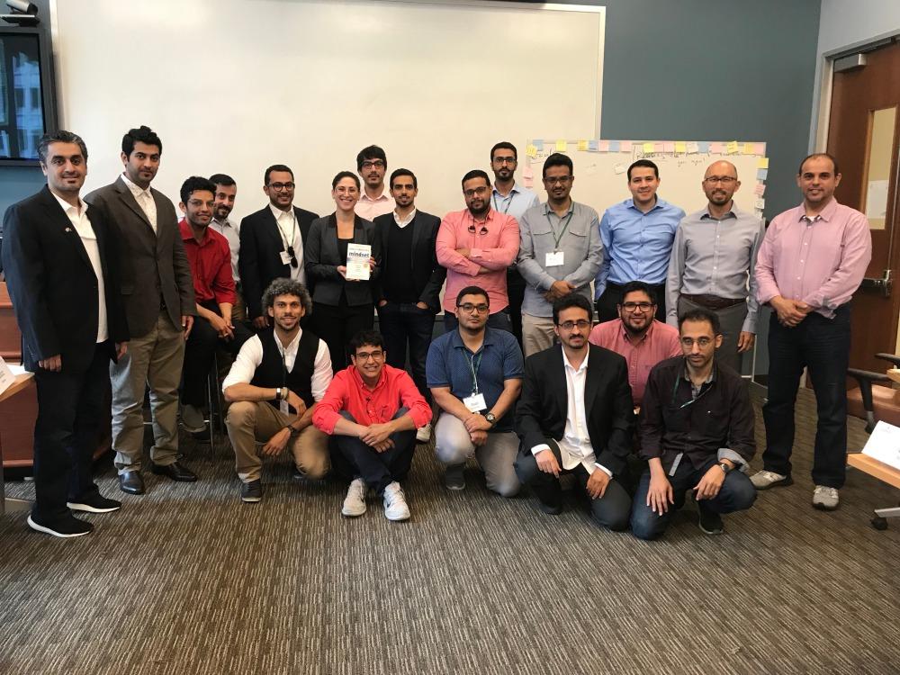 ورشة تطوير عقلية النمو التي مررتها مؤسسة كاكتوس عرين شحبري لرواد ورائدات اعمال سعوديات في كلية بابسون لريادة الأعمال في سان فرانسيسكو