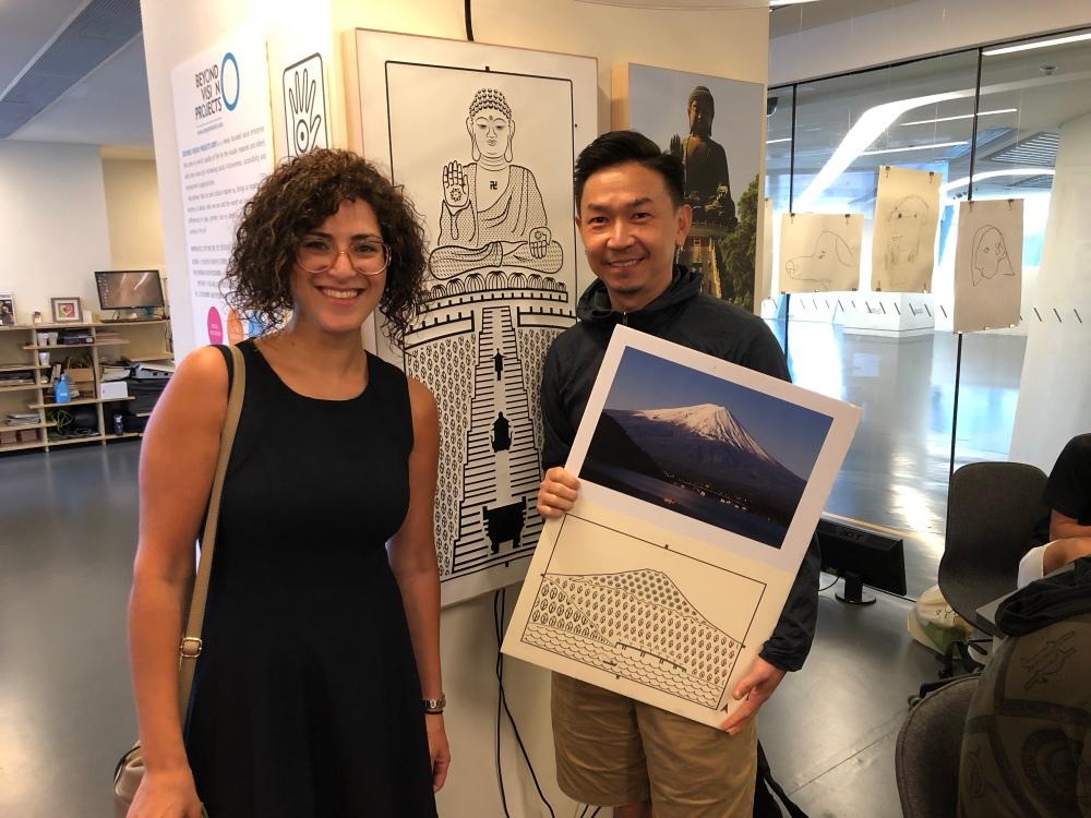 مؤسسة كاكتوس عرين شحبري مع رواد اعمال مركز الابتكار في جامعة هونغ كونغ بوليتكنيك